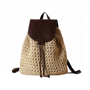 Female Fashion Straw Backpack - Meraki Cole Company