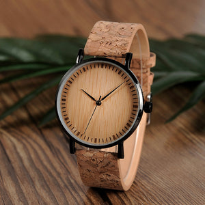 Ultra Thin Bamboo Cork Watch - Meraki Cole Company