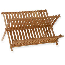 Load image into Gallery viewer, Folding Bamboo Dish Drying Rack - Meraki Cole Company