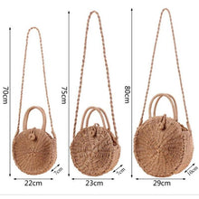 Load image into Gallery viewer, Straw Woven Round Vintage Handbag - Meraki Cole Company