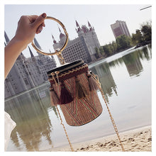 Load image into Gallery viewer, Round Hand Tote Bag - Meraki Cole Company