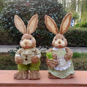 Natural Weave Straw Garden Rabbit - Meraki Cole Company