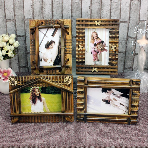 Bamboo Picture Frames (Set of 2) - Meraki Cole Company