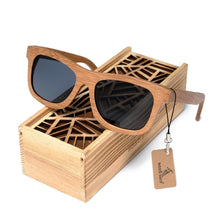 Load image into Gallery viewer, Bamboo Square Polarized Sunglasses - Meraki Cole Company