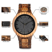 Load image into Gallery viewer, Wooden Bamboo Link Watch - Meraki Cole Company