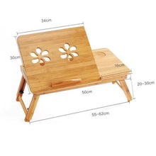 Load image into Gallery viewer, Adjustable Bamboo Laptop Table