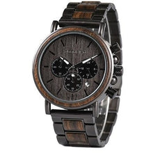 Load image into Gallery viewer, Mens Wooden Watch in Black - Meraki Cole Company