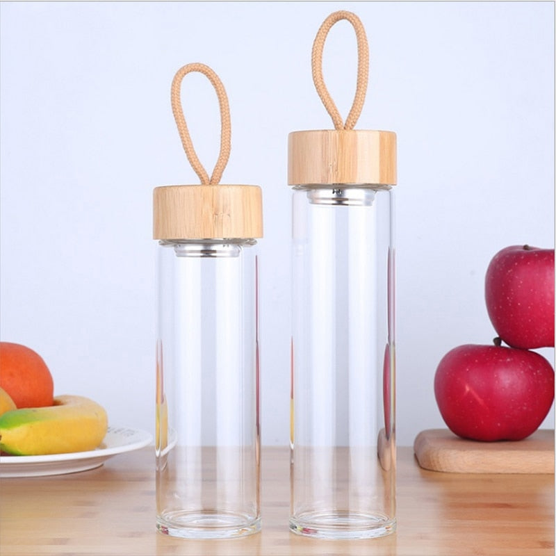 Portable Reusable Glass Water Bottle - Meraki Cole Company