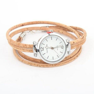 Cork Natural Bracelet Watch - Meraki Cole Company