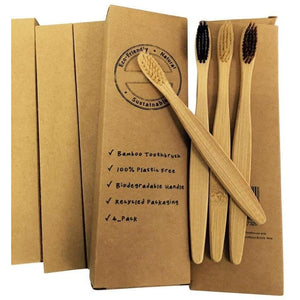 Natural Organic Bamboo Toothbrush (4 Pack) - Meraki Cole Company