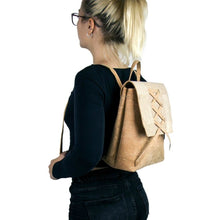 Load image into Gallery viewer, Double Handle Cork Backpack - Meraki Cole Company