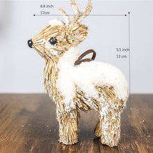 Load image into Gallery viewer, Handmade Reindeer Straw Ornaments - Meraki Cole Company