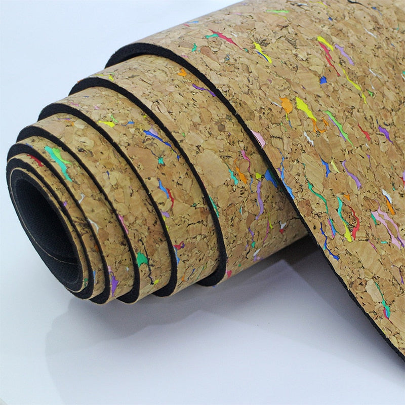 Colorful Cork Yoga Pilates Exercise Mat - Meraki Cole Company