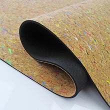 Load image into Gallery viewer, Colorful Cork Yoga Pilates Exercise Mat - Color Rainbow Spot - Meraki Cole Company