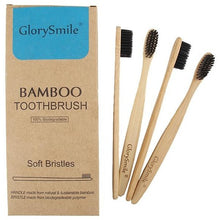 Load image into Gallery viewer, Natural Bamboo Charcoal Toothbrush (4-Pack) - Meraki Cole Company