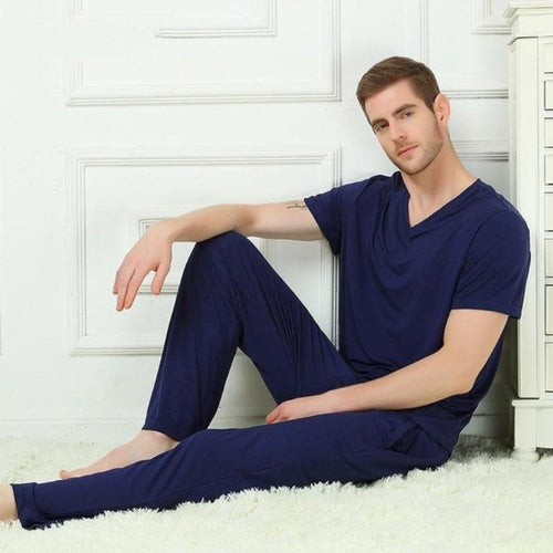 Men's Bamboo Fiber Sleepwear (2 Piece Set) - Meraki Cole Company