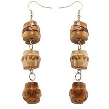 Load image into Gallery viewer, Natural Bamboo Geometric Earrings - Meraki Cole Company