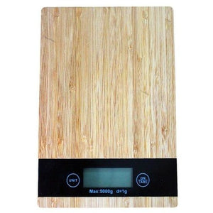 Bamboo Grain Electronic Kitchen Scale - Meraki Cole Company
