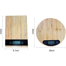 Load image into Gallery viewer, Bamboo Grain Electronic Kitchen Scale - Meraki Cole Company