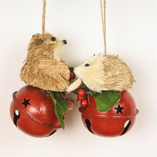 Load image into Gallery viewer, Straw Bear & Hedgehog Bell Ornaments - Meraki Cole Company