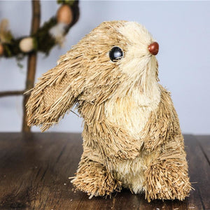Handmade Straw Rabbit Home Decor - Meraki Cole Company