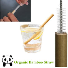 Load image into Gallery viewer, Natural Bamboo Reusable Drinking Straws (10 Piece Set) - Meraki Cole Company