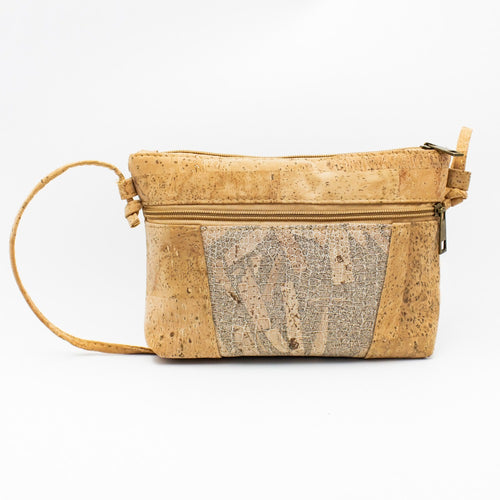 Cork Crossbody Bag with Neutral Tree Pattern - Meraki Cole Company