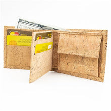 Load image into Gallery viewer, Vegan Bifold Cork Wallet - Meraki Cole Company