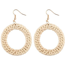 Load image into Gallery viewer, Bamboo Rattan Drop Earrings - Meraki Cole Company
