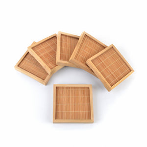 Natural Bamboo Coasters (Set of 12) - Meraki Cole Company
