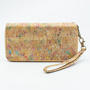 Colorful Cork Zipper Wallet - Meraki Cole Company