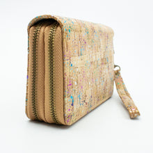 Load image into Gallery viewer, Colorful Cork Zipper Wallet - Meraki Cole Company