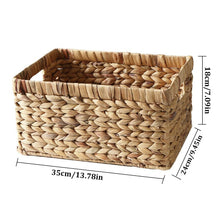 Load image into Gallery viewer, Organizing Woven Straw Basket - Meraki Cole Company