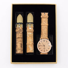 Load image into Gallery viewer, Womens Watch with Interchangeable Cork Leather Bands - Meraki Cole Company