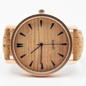 Womens Watch with Interchangeable Cork Leather Bands
