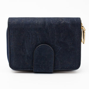 Blue Cork Bifold Wallet for Women - Meraki Cole Company