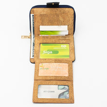 Load image into Gallery viewer, Blue Cork Bifold Wallet for Women - Meraki Cole Company