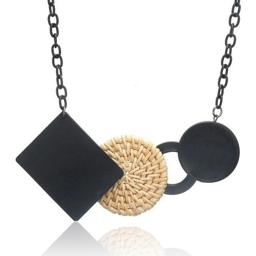 Handmade Natural Beaded Cork Necklace - Meraki Cole Company