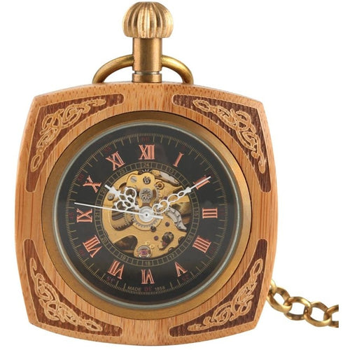 Vintage Bamboo Pocket Watch - Meraki Cole Company