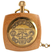 Load image into Gallery viewer, Vintage Bamboo Pocket Watch - Meraki Cole Company
