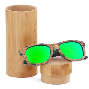 Cork Wooden Polarized Sunglasses - Meraki Cole Company