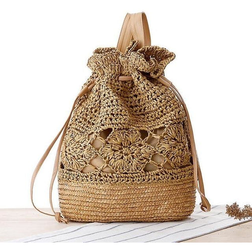Ladies Casual Straw Spring Bag - Meraki Cole Company