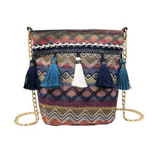 Load image into Gallery viewer, Colorful Straw Tassel Shoulder Bag - Meraki Cole Company
