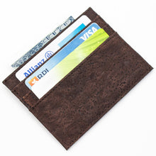 Load image into Gallery viewer, Natural Cork Brown Slim Wallet - Meraki Cole Company