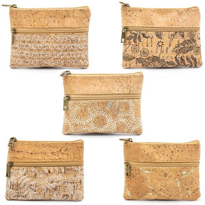 Natural Cork Small Vegan Coin Purse - Meraki Cole Company