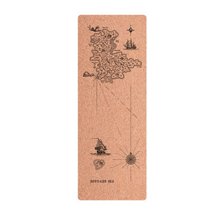 Natural Cork Position Line Yoga Pilates Exercise Mat
