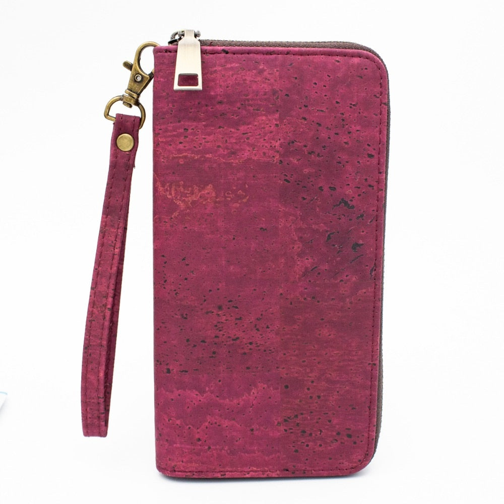 Ruby Red Cork Clutch Wallet - Meraki Cole Company