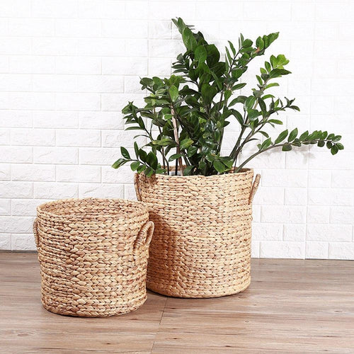 Natural Seagrass Rattan Storage Basket - Meraki Cole Company