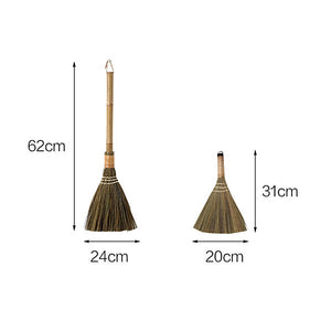 "12"" or 24"" Straw Sweeping Duster Broom"