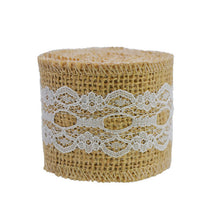 Load image into Gallery viewer, Natural Jute Burlap Lace Ribbon - Meraki Cole Company